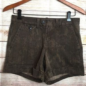 Lucky Brand brown chino shorts size 0/25